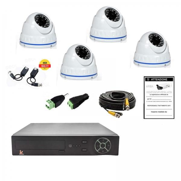 Kit Videosorveglianza 4 Canali AHD 720P 4 Cam No HD - Serie Home