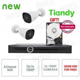 Promo KIT NVR video surveillance + IP cameras + HDD Tribute