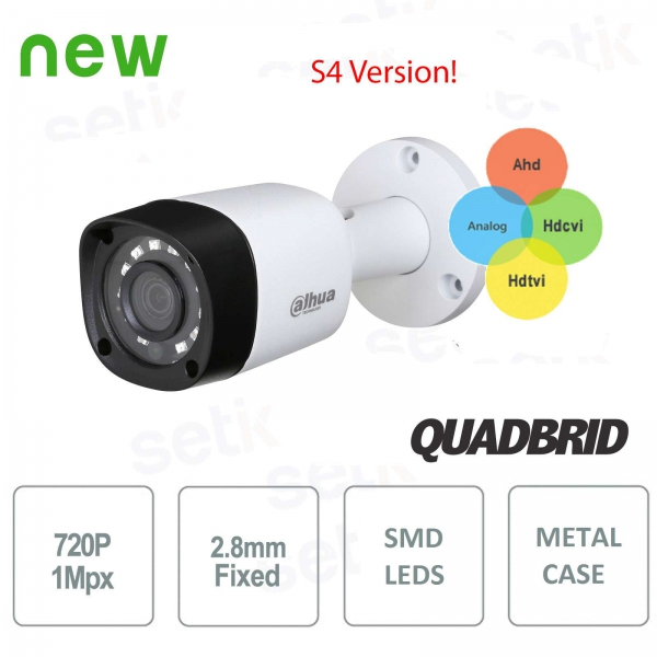 4in1 HD 720P Dahua Camera HDCVI / HDTVI / AHD / ANALOG 2.8mm