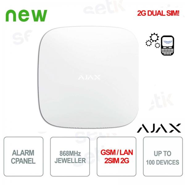 Panneau de commande d'alarme Ajax HUB GPRS / LAN 868MHz 2SIM 2G