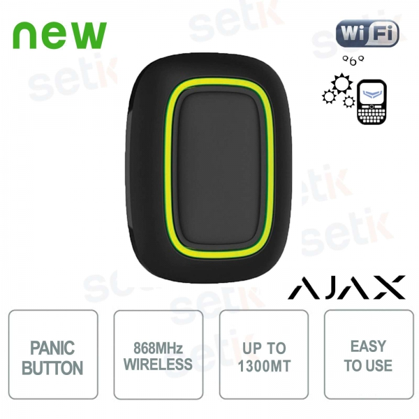 Ajax Emergency Button Wireless Panic Alarm 868MHz Black Version
