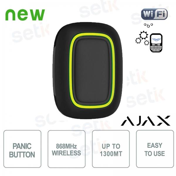 Ajax Pulsante di soccorso allarme panico senza fili 868MHz Black Version