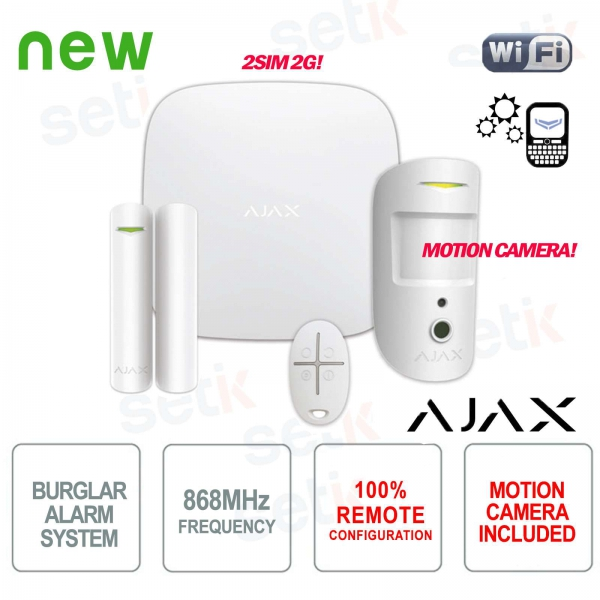 AJAX Kit di Allarme Professionale Wireless senza fili GPRS / Ethernet 2SIM 2G