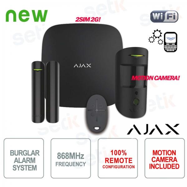 AJAX Wireless Wireless GPRS / Ethernet 2SIM 2G Black Version Professional Alarm Kit