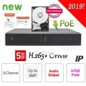 NVR 8 Channels ONVIF DVR IP 5MP Cloud H.265 PoE + HD Setik