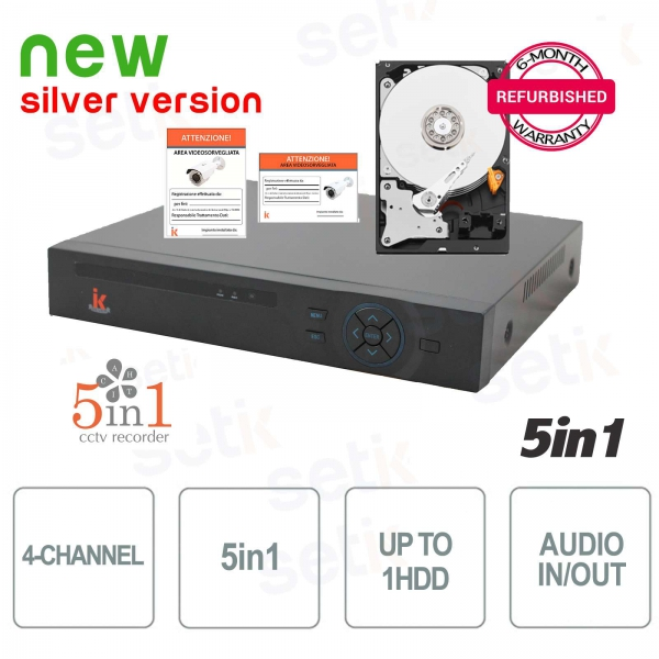 4-Channel 1080N DVR AHD+CVI+TVI+IP+ANALOG + HD