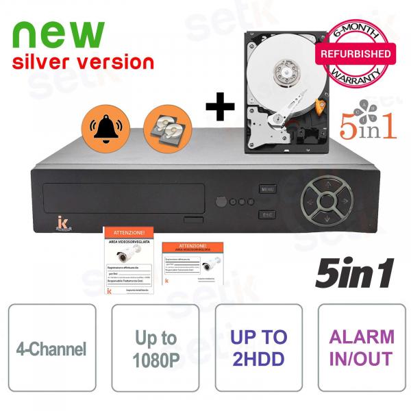 DVR 4 Canali 5in1 AHD/CVI/TVI/IP/ANALOGICO 1080P Allarme + HD