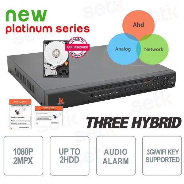 DVR 16 Canali Tribrido AHD / IP / ANALOGICO 1080p Allarme + HD Setik