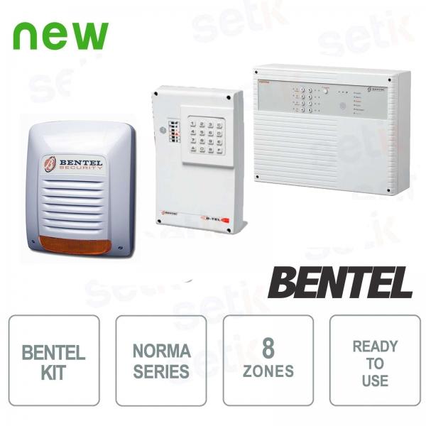 Kit Allarme Completo 8 Zone Bentel Serie Norma