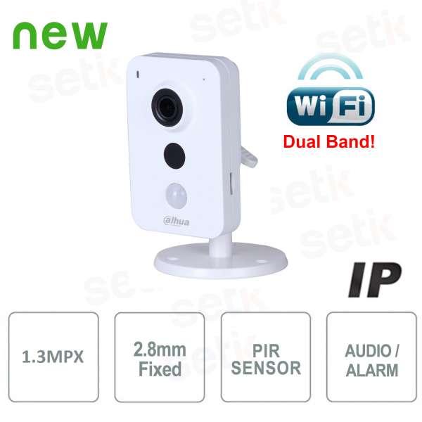 Telecamera IP WiFi Dual Band 1,3MP 2.8mm IR Allarme Audio - Serie Cube - Dahua