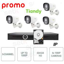 NVR 8 Channels 1080P 2HDD Tiandy + Cameras and HD Tribute!