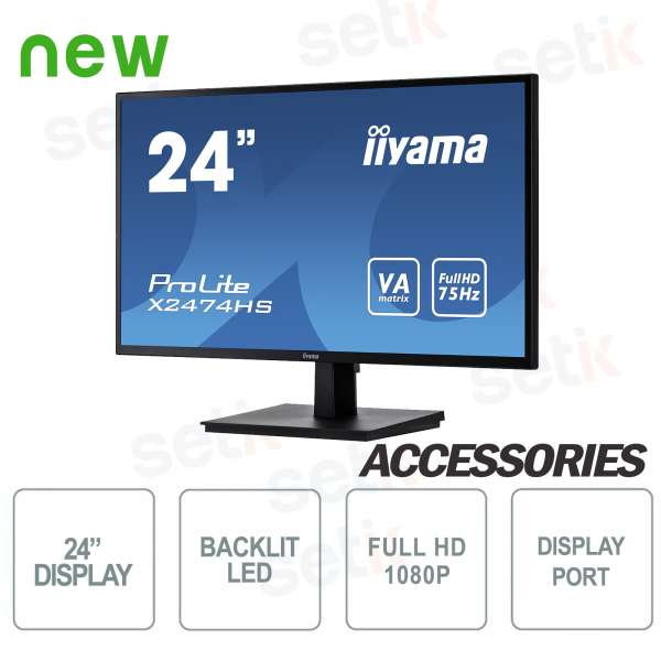 "ProLite 24 ""Full HD VA Monitor - Display Port - HDMI - Speaker - Vesa Attack - IIYAMA"