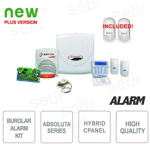 Promo Kit Bentel ABS-14KITSM Burglar Alarm + Perimeter Sensors