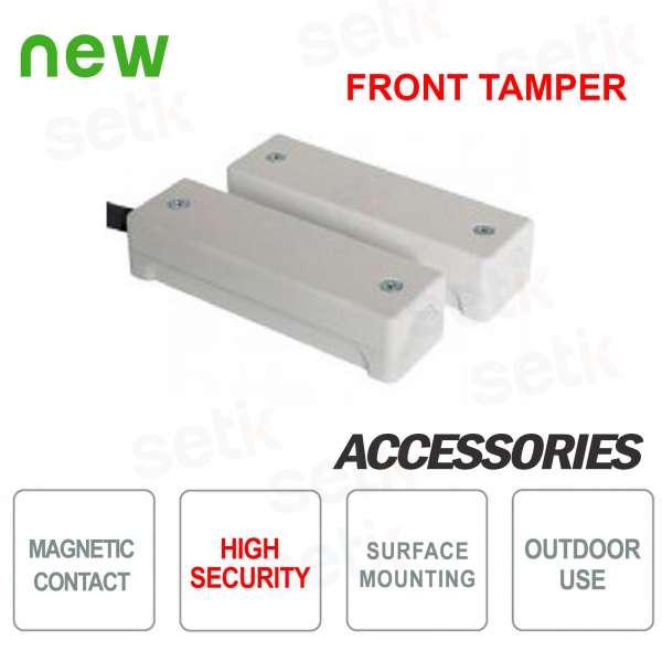 Contatto magnetico da esterno alta sicurezza con coperchio - CSA