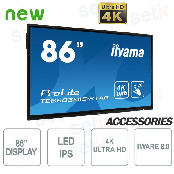 Monitor IPS LED 86'' Ultra HD 4K IIWARE8.0 - IIYAMA