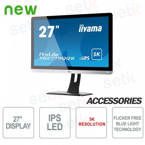"Monitor ProLite 27"" IPS Fino a 5K 4ms Flicker Free Speakers - IIYAMA"