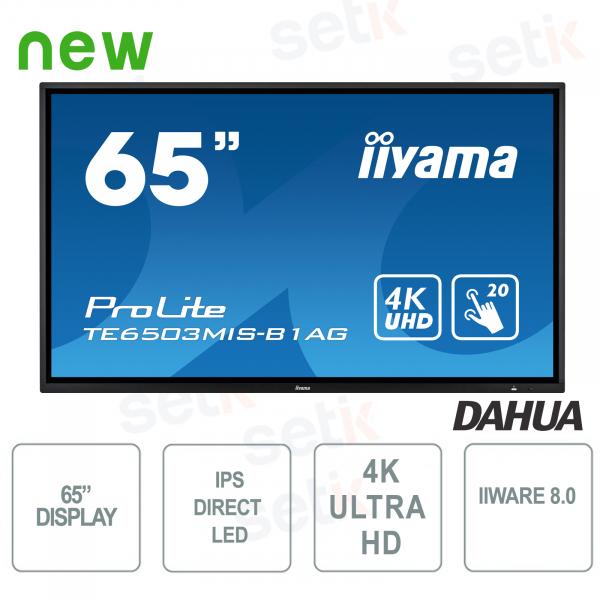 Monitor IPS LED 65'' Ultra HD 4K IIWARE8.0 - IIYAMA