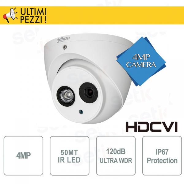 Telecamera Dome Eyeball HDCVI 4MP 2.8mm 120dB IR50 - Pro Dahua