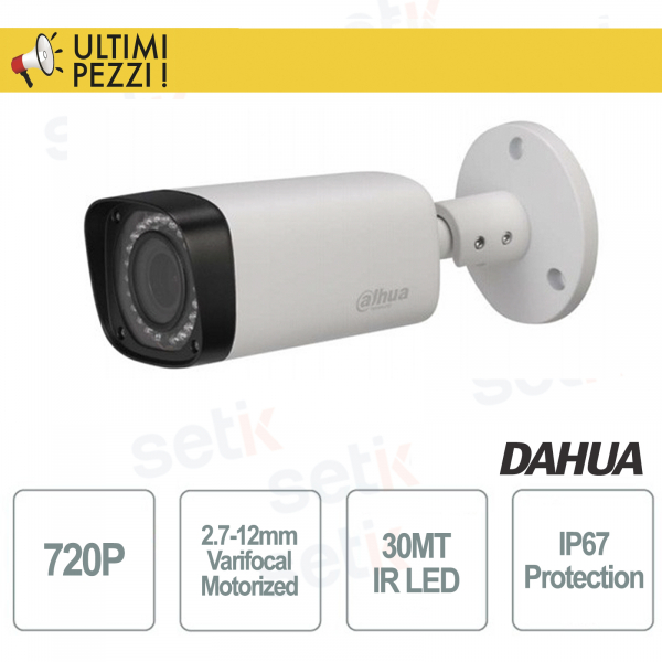 HDCVI Bullet Motorised Camera 720P 2.7-12mm  - Serie Pro - Dahua
