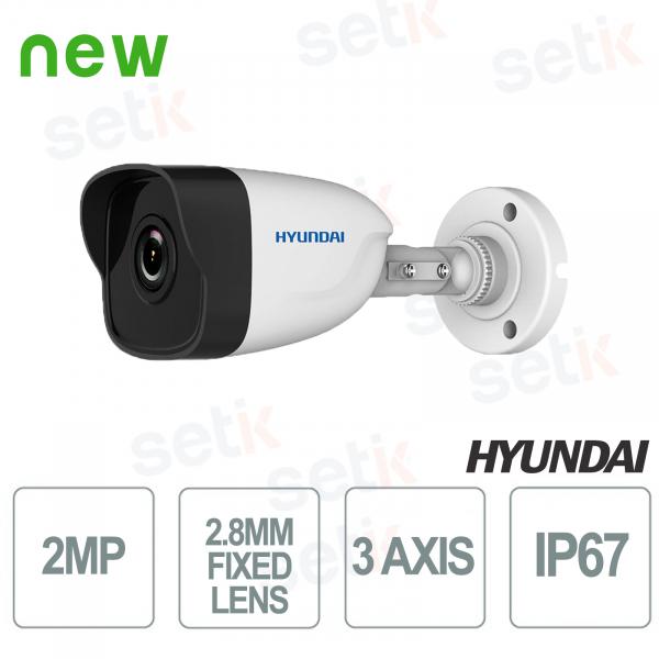 Telecamera Bullet IP ONVIF PoE da esterno Hyundai 2 MP IR 30 m