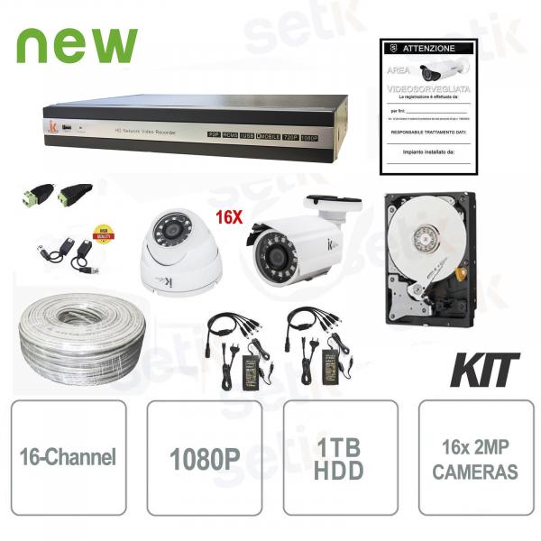 Kit Videosorveglianza 16 Canali XVR 4MP - Serie Home - Setik