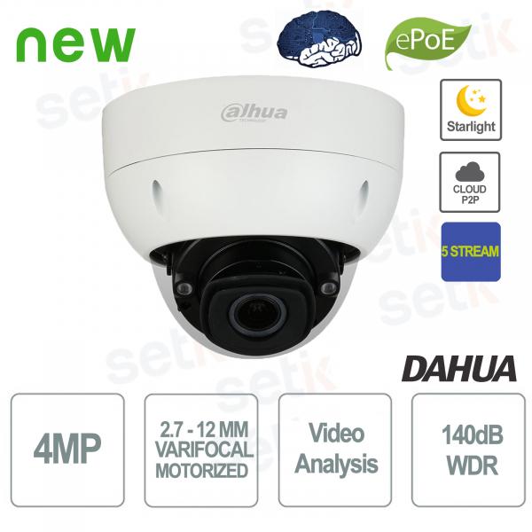 Telecamera IP PoE AI 4MP Motorizzata Starlight 5 Stream WDR - Dahua