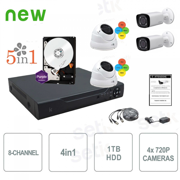 8ch AHD CCTV complete kit - Plug&Play - Home Security