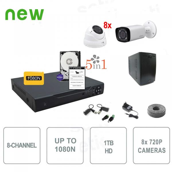8 Channel Hybrid Professional Video Surveillance Kit - Setik