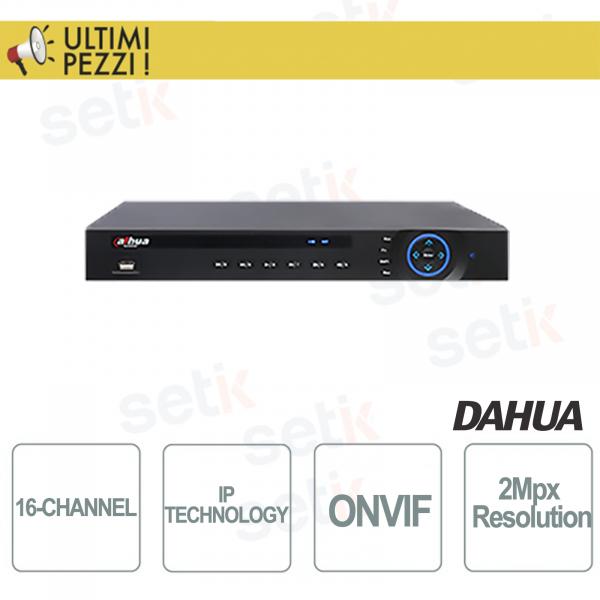 NVR 16 Canali ONVIF - Fino a 5Mpx - 2HDD - 256Mbps - DAHUA