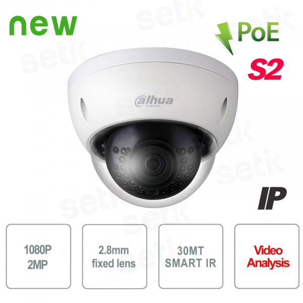 Dahua IVS IR 30 2.8 mm PoE external 2MP IP camera