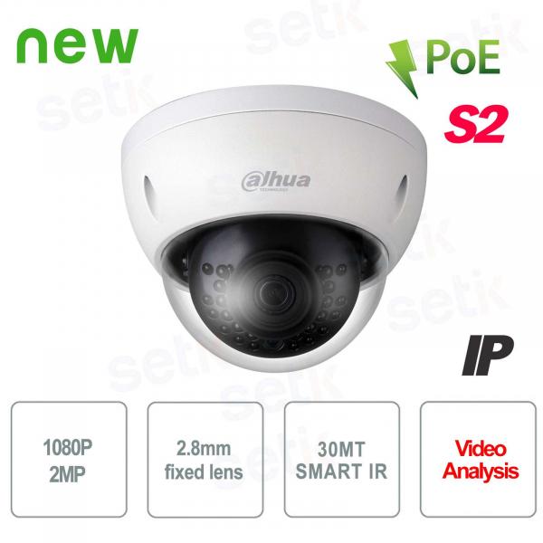 Telecamera IP esterna 2MP Dahua IVS IR 30 2.8 mm PoE