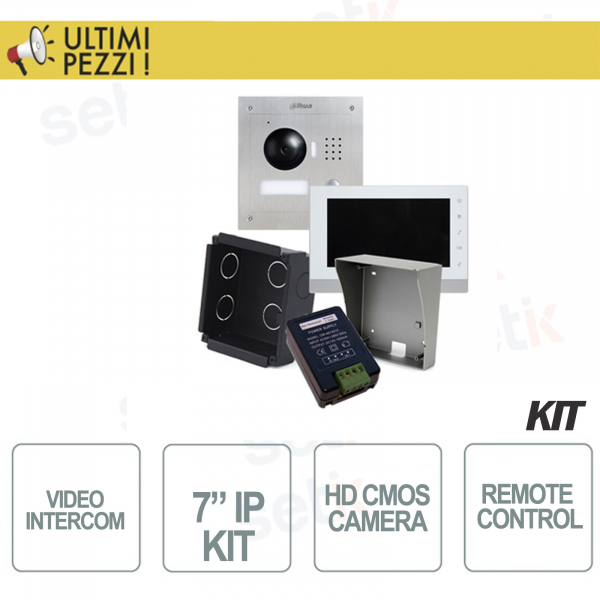 "KIT VIDEOCITOFONIA IP HD 7"" COMPLETO - DAHUA"