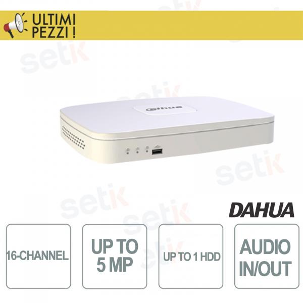Nvr 16 Canali  IP - 5Mpx - 1HDD - Dahua
