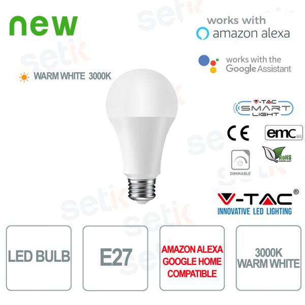 Lampadina LED Smart Home E27 3000K Alexa Google Home V-TAC