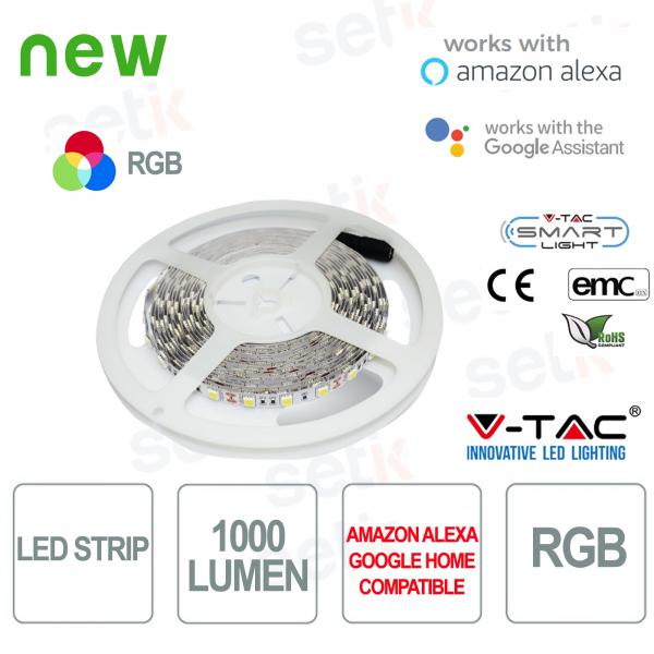 Striscia LED Smart Home RGB 1000l 10 WATT Alexa Google Home V-TAC