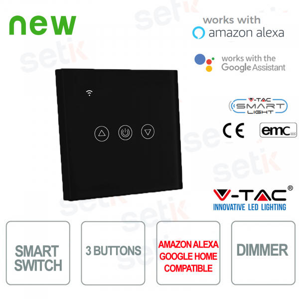 WIFI Smart Home Switch 3 buttons IP40 Alexa Google Home V