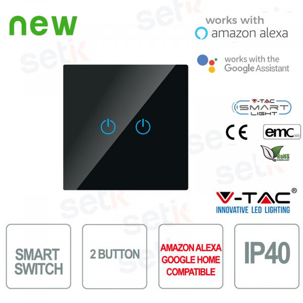 WIFI Interruttore Touch Smart Home IP40 Alexa Google Home V-TAC Nero
