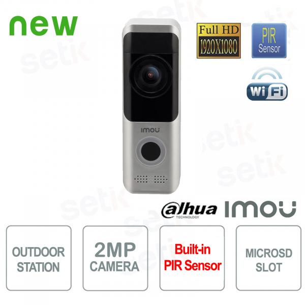 Imou Postazione Esterna Wireless Dahua Videocitofono 2MP FULL-HD telecamera Allarme PIR Audio