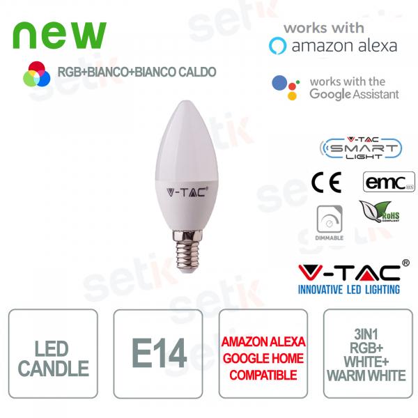 Candela LED Smart Home 3in1 RGB+2700K+6400K E14 4.5w Alexa Google Home