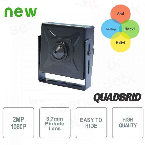 4in1 Hybrid Hidden Camera Analog / Ahd / Hdcvi / Hdtvi 1080P 3.7mm - Setik