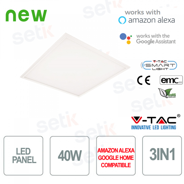 LED Panel 600x600 Smart Home 3in1 40W Alexa Google