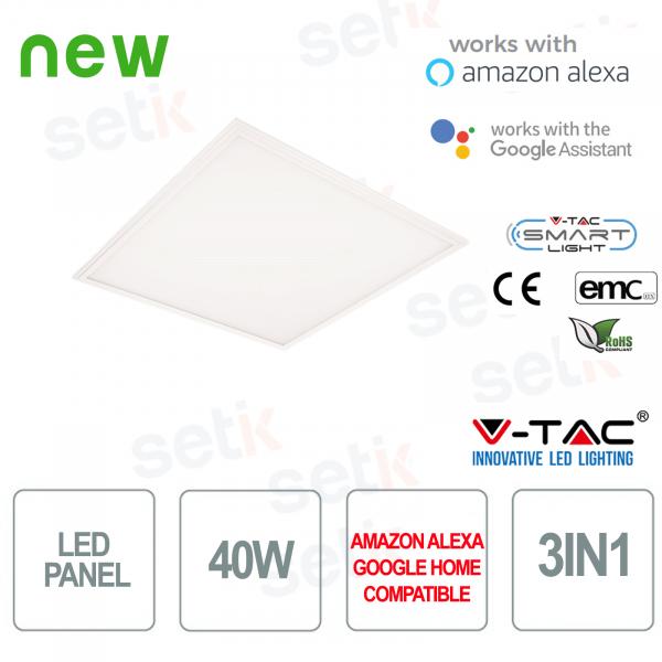 Pannello LED 600x600 Smart Home 3in1 40W Alexa Google Home