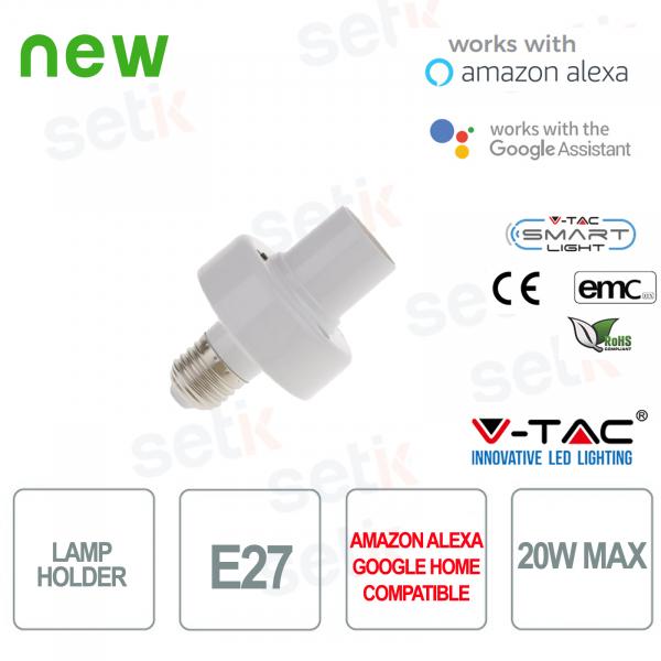 Portalampada Smart Home E27 20W Alexa Google Home V-TAC
