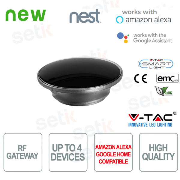 V-TAC Smart Gateway RF433 Amazon Alexa Google Home