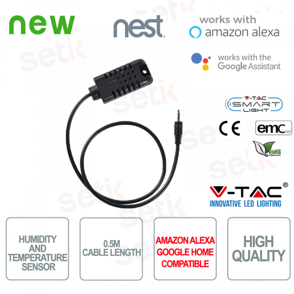 V-TAC Amazon Alexa Google Home Nest temperature and humidity se