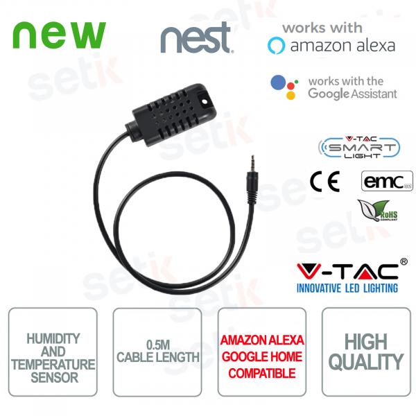 V-TAC Sensore di temperatura e umidità Amazon Alexa Google Home Nest