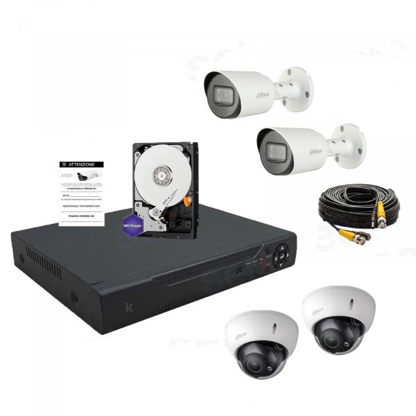 Video surveillance kit 8 channels AHD 5Megapixel - Home series - Setik