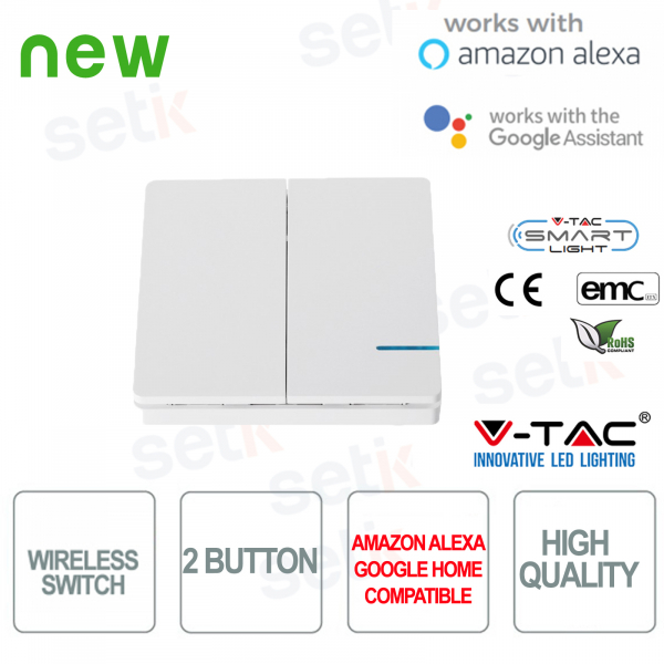 Switch 2 Keys WIRELESS Smart Home V