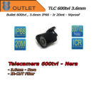 Telecamera Bullet 600TVL Focal 3.6mm - Outlet - Nera - IR 20mt