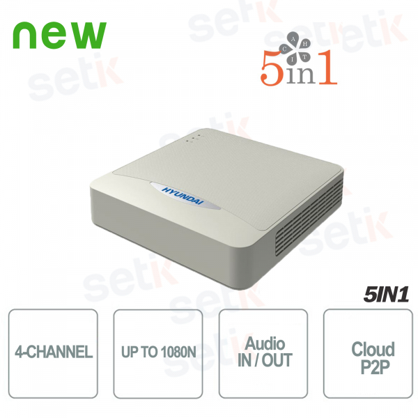 ZVR 4 Canali IP HDCVI HDTVI AHD Analogico 1080N  Hyundai